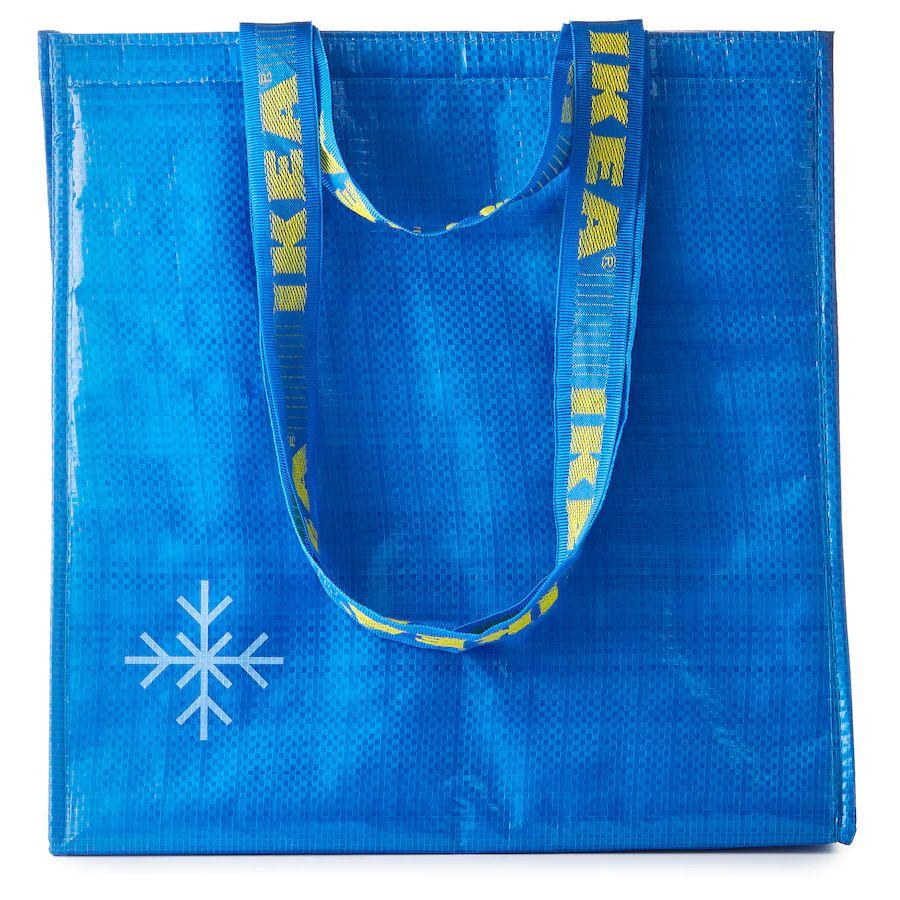 FRAKTATorba termiczna, niebieski, 38x40 cm