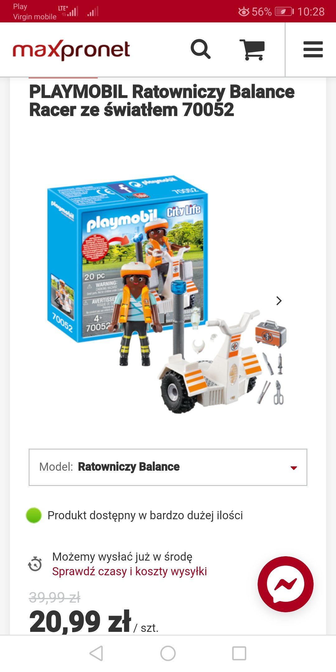 Playmobil ratowniczy balance Racer ze światłem