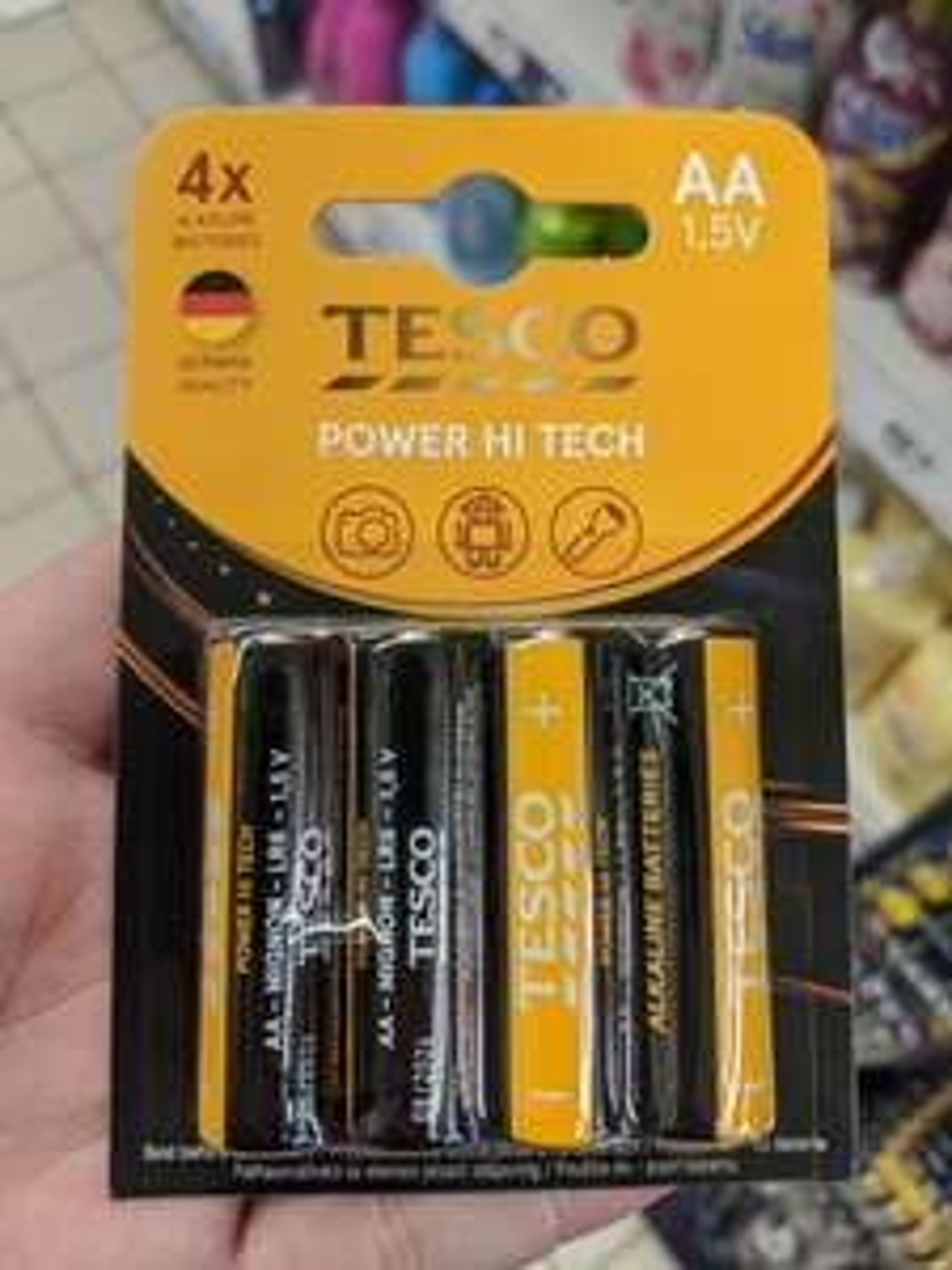 Baterie AA, AAA 1,5V Tesco paluszki 4 sztuki. Tesco Dąbrowa Górnicza