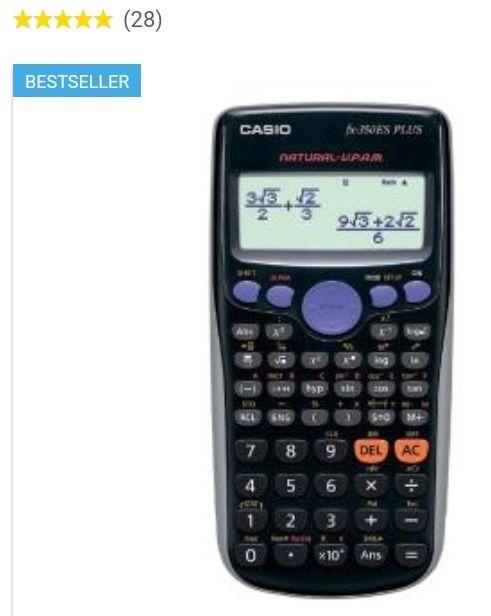 Kalkulator naukowy Casio FX-350ES-S PLUS 252 FUNKCJE O. os. 0 zł - RTVEUROAGD