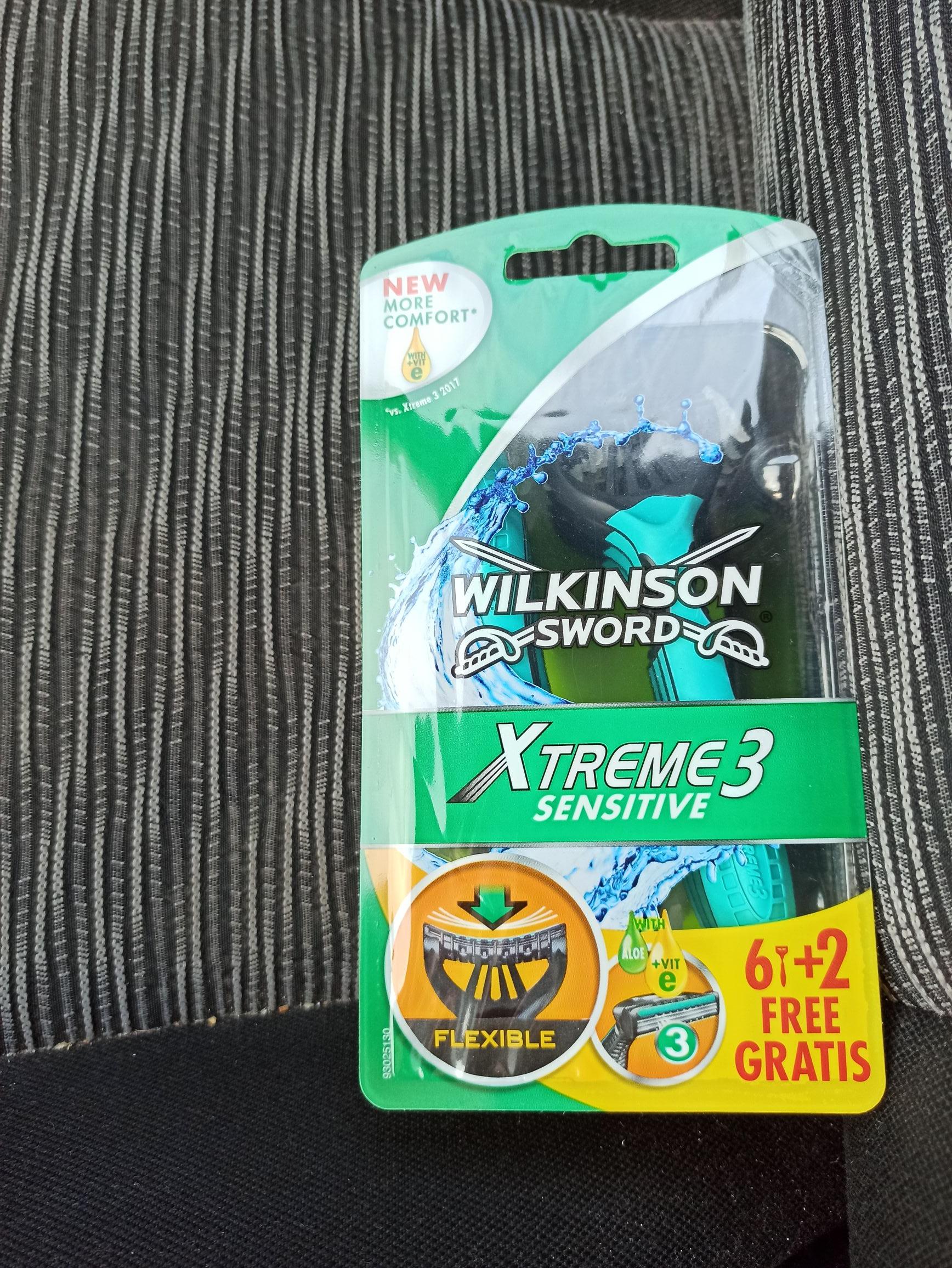 Maszynki wilkinson xtreme 3 sensitive 8 szt. w lidlu za 13.99zl
