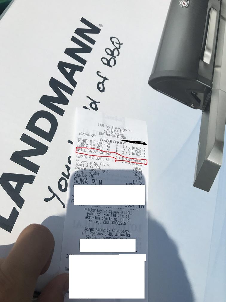 Grill gazowy Landmann REXON PTS 3.0 @Lidl