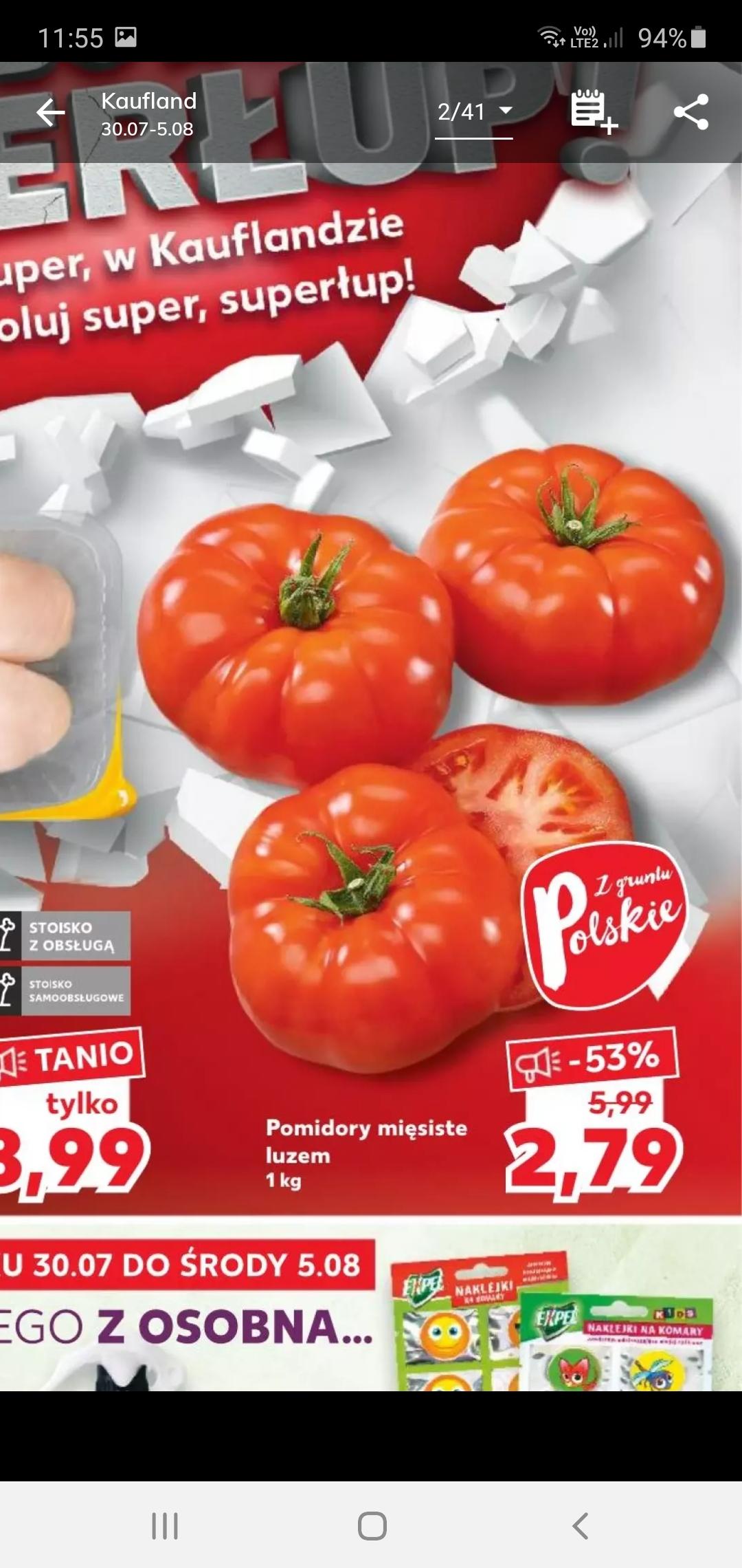 Pomidor mięsisty cena 2,79kg tylko w sobote