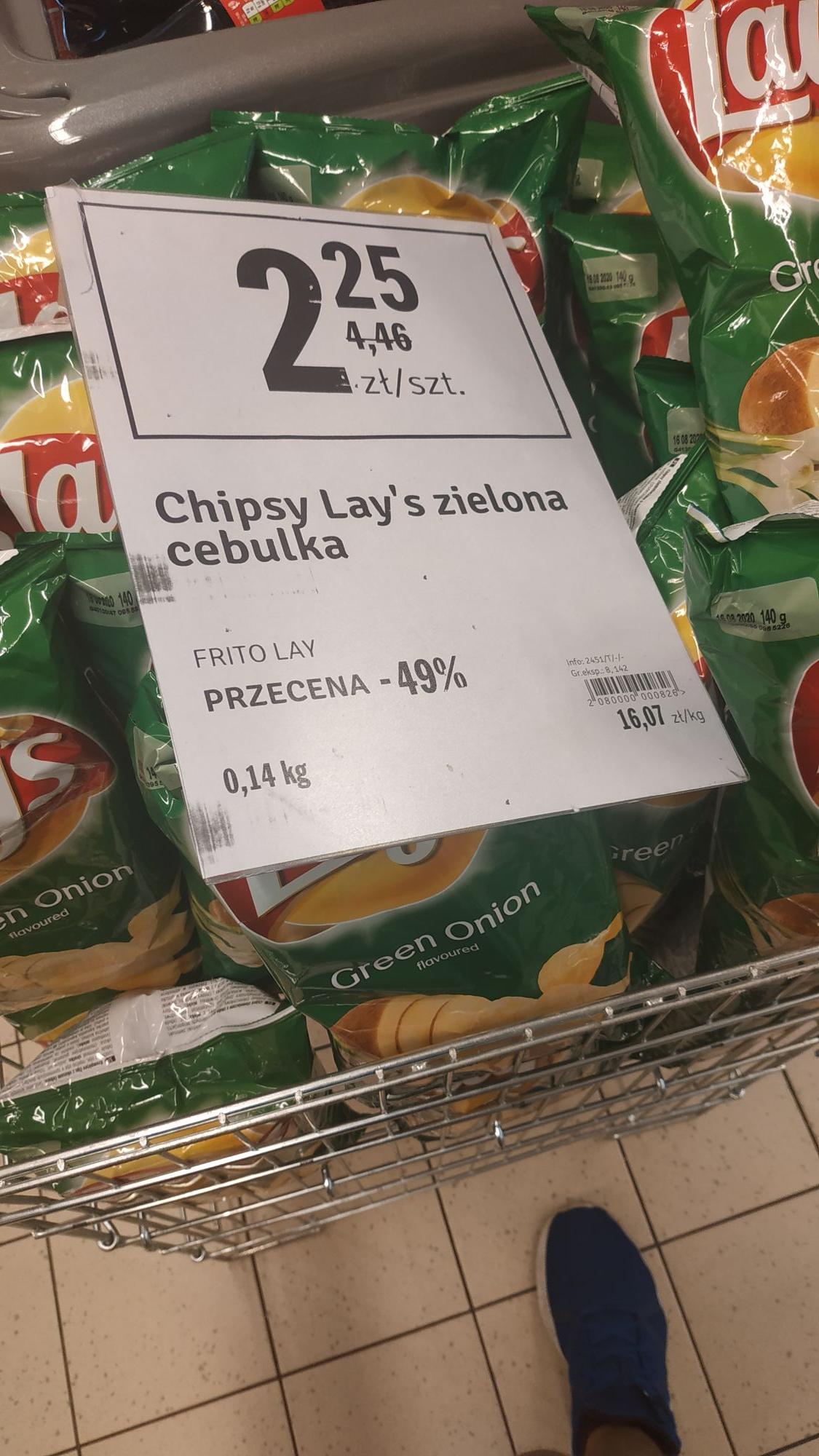Chipsy Lays 140g. Stokrotka Warszawa Kondratowicza/Św. Wincentego