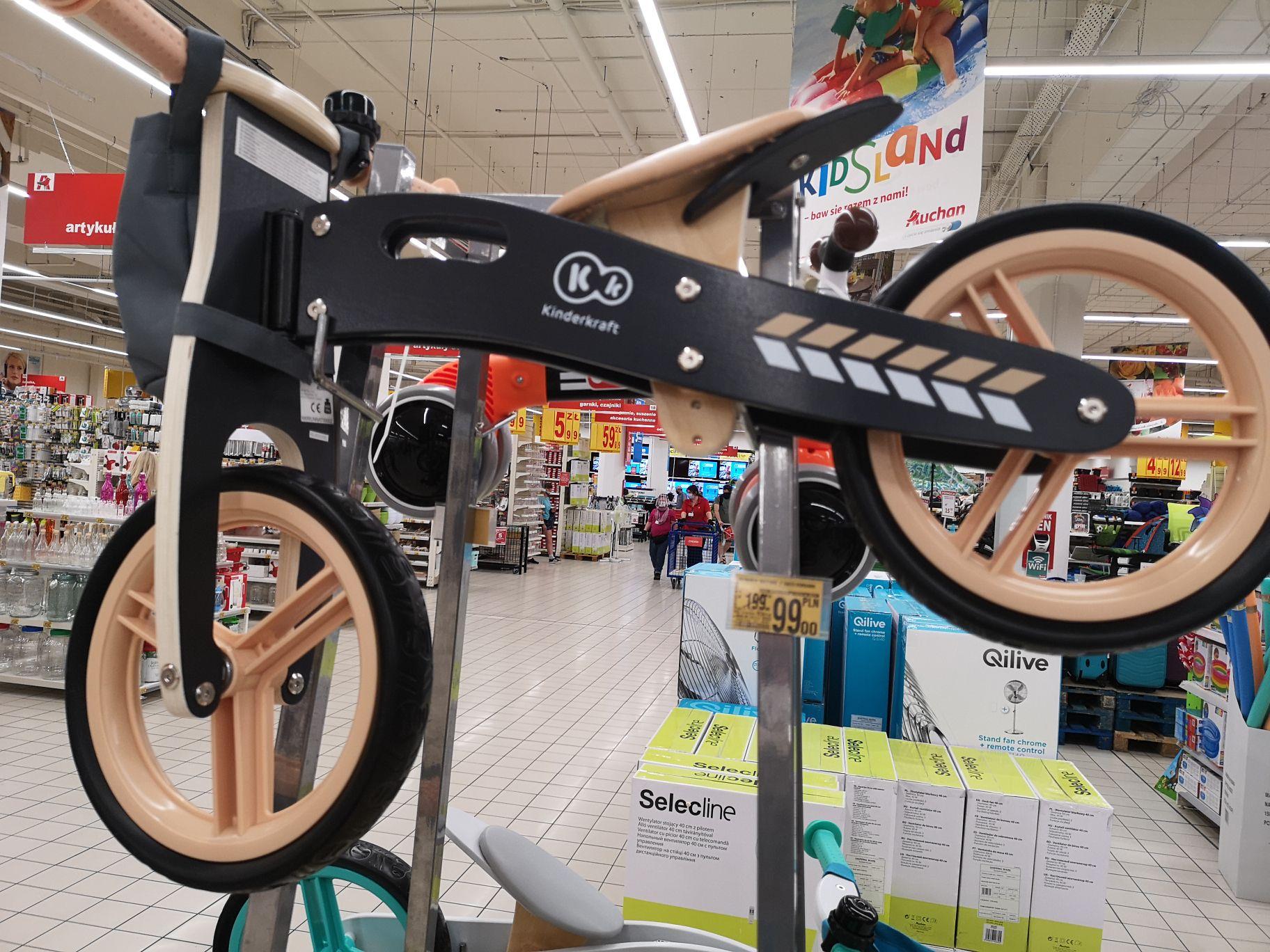 Rowerek biegowy drewniany kinderkraft Auchan Szczecin