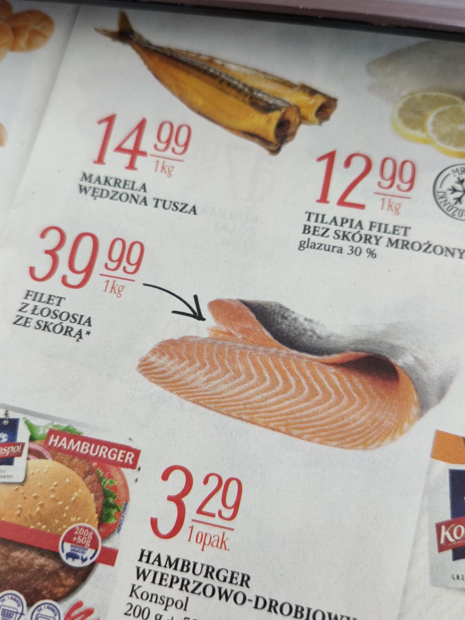 Filet z łososia, 39.99 zł za kilogram