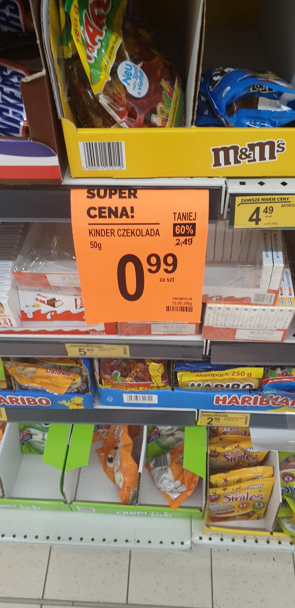 Kinder czekolada za 0,99zl
