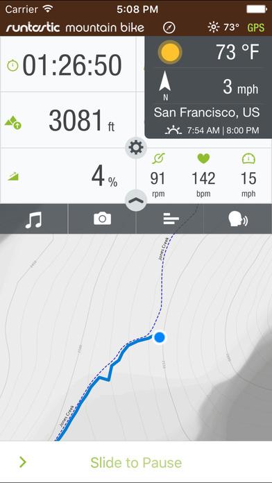 Runtastic Mountain Bike Offroad Route Tracker za darmo na iPhona