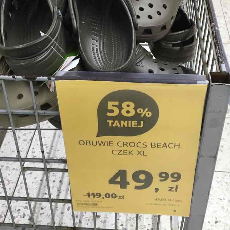 crocs -58% w Tesco