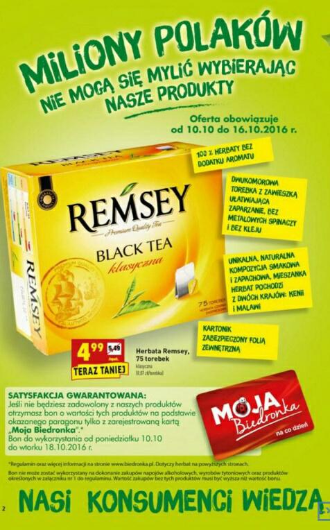 Herbata za darmo dla niezadowolonych @Biedronka