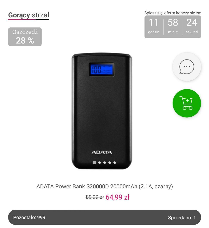 Powerbank Adata S20000D - 20k mAh