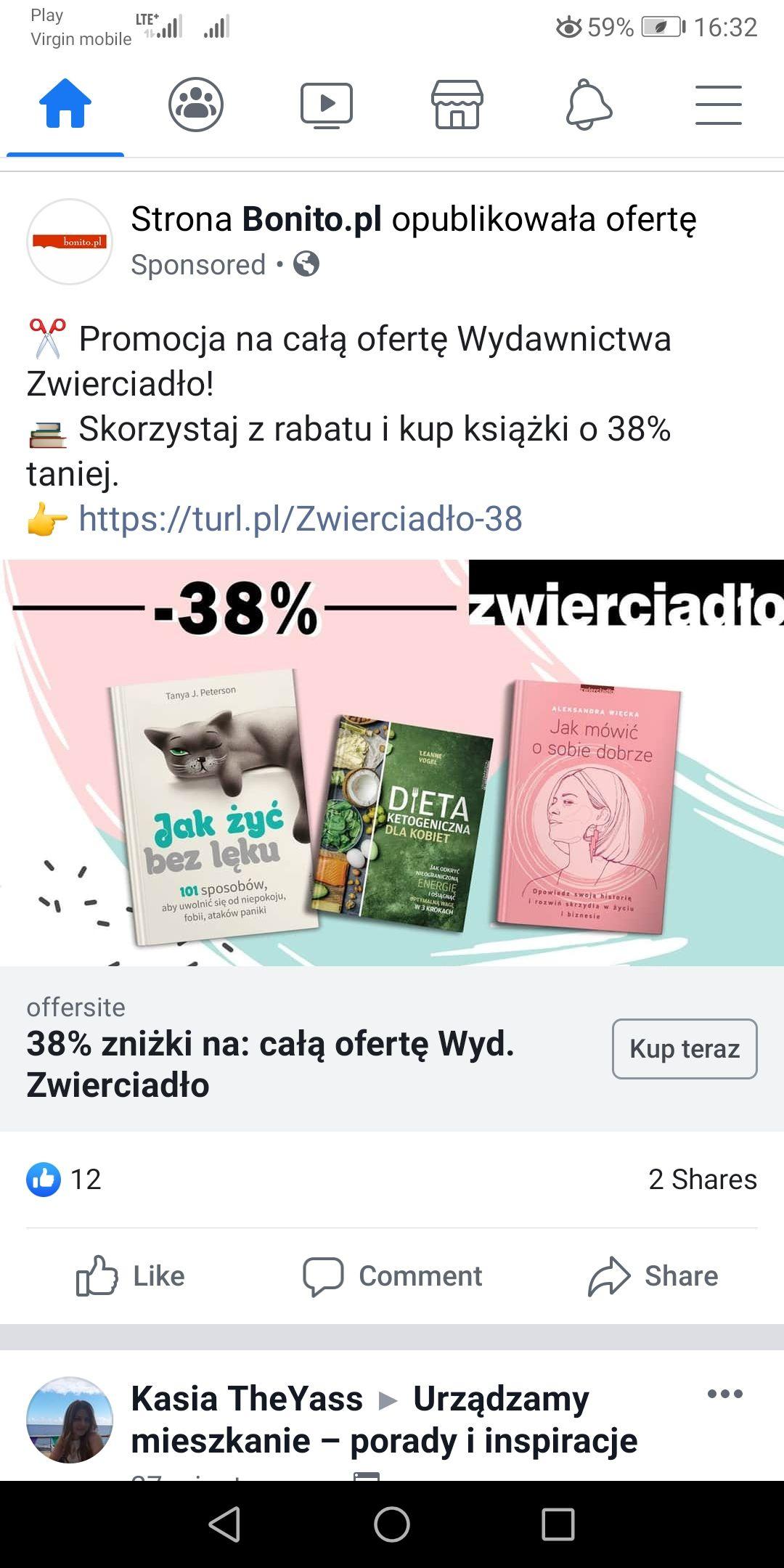Bonito -38% na wszystkie książki z wydawnictwa: ZWIERCIADŁO