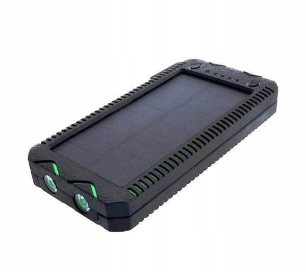 PowerNeed S12000G ładowarka solarna 12000mAh z latarką LED