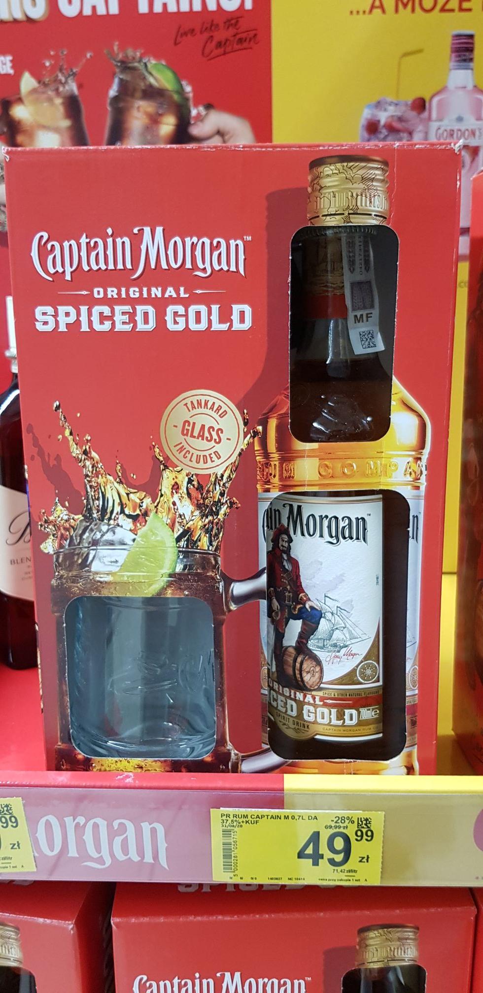 Captain Morgan Spiced Gold 0,7 + szklanka