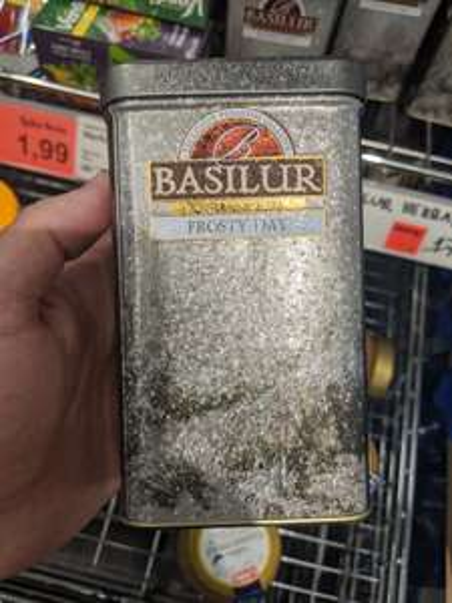 Herbata BASILUR Frosty Day 85g, czarna liściasta cejlońska z dodatkami, ALDI Katowice