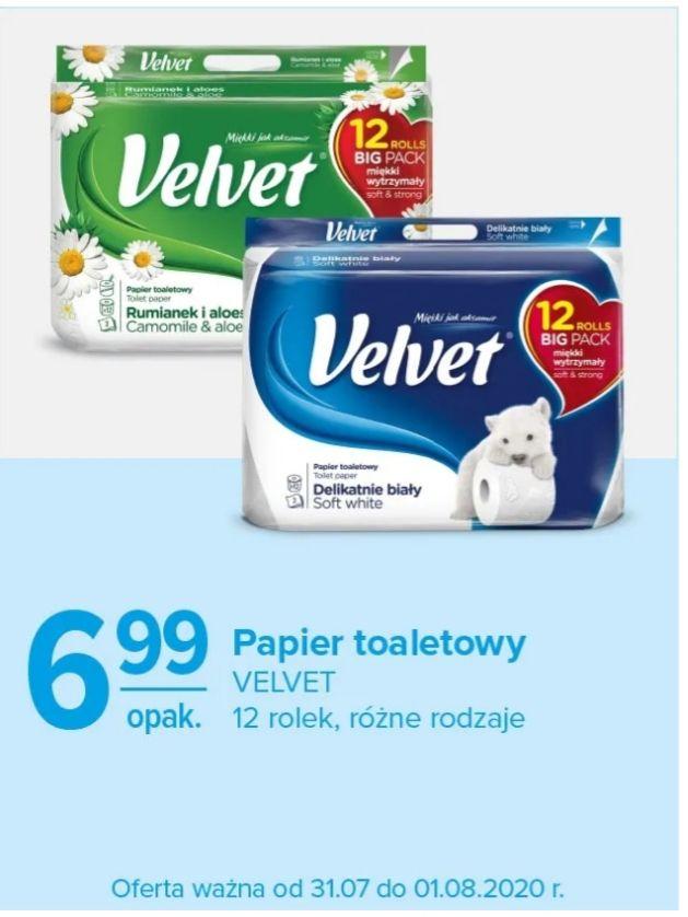 Papier toaletowy Velvet 12 rolek, w Carrefour od 31.lipca