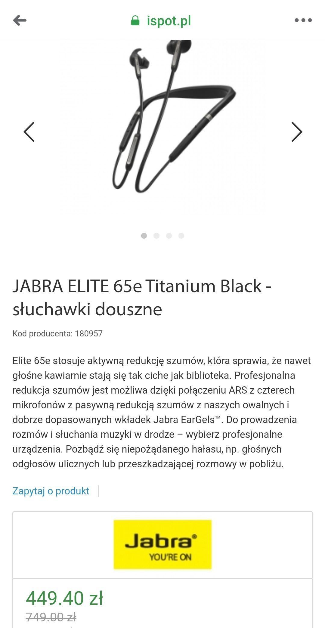 JABRA ELITE 65e Titanium Black