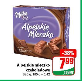 Alpejskie mleczko czekoladowe 330g Milka @Dino