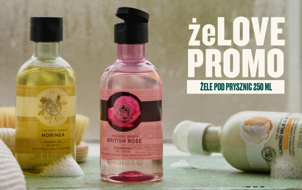 @TheBodyShop - promocja na żele pod prysznic 250 ml - 10 sztuk za 100 zł i inne