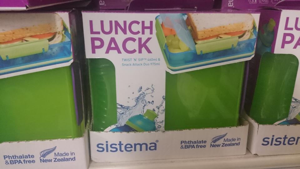 Lunch Pack Sistema - pojemnik na 2 śniadanie z bidonem Tesco Swarzędz