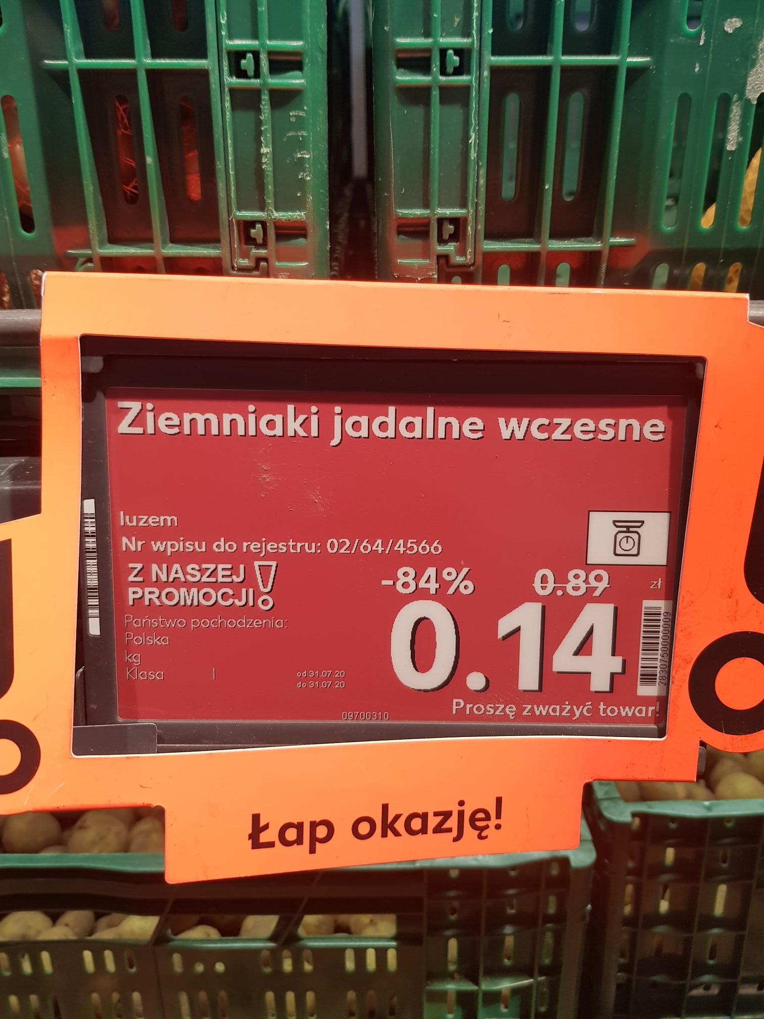 Ziemniaki jadalne wczesne Kaufland Bydgoszcz Fordon