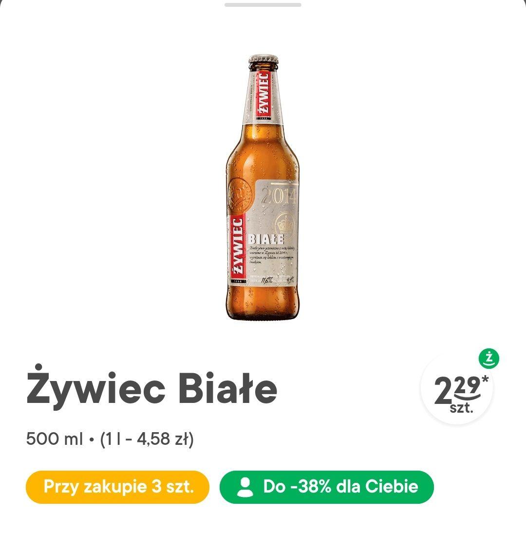 Żywiec Białe przy zakupie trzech butelek (z aplikacją)