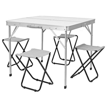 Zestaw campingowy - stół i 4 krzesełka - Jula