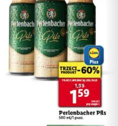 Piwo Perlenbacher Pils 500ml przy zakupie 3 szt. @Lidl
