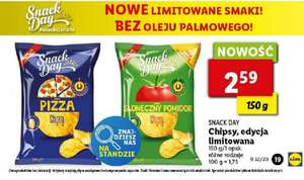 Limitowane smaki chipsów - Lidl