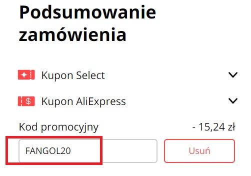 AliExpress kod promocyjny na -15 PLN dla nowych użytkowników