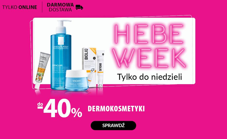 do -40% dermokosmetyki na hebe.pl