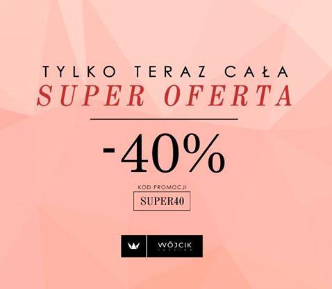 -40% Wójcik sklep internetowy, na całą oferę