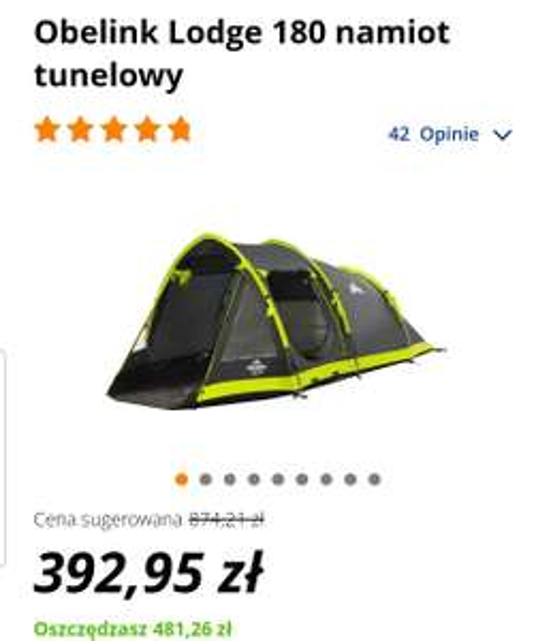 Namiot 3-os # Obelink Lodge 180 namiot tunelowy