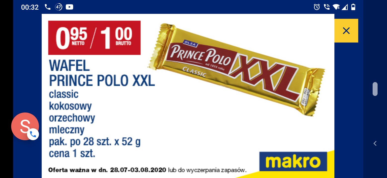 Prince polo XXL wszystkie smaki makro