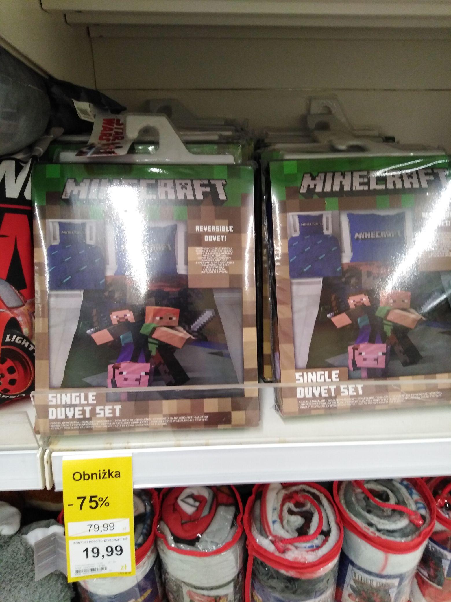 Pościel dziecięca Minecraft - 75% Tesco Zielona Góra.