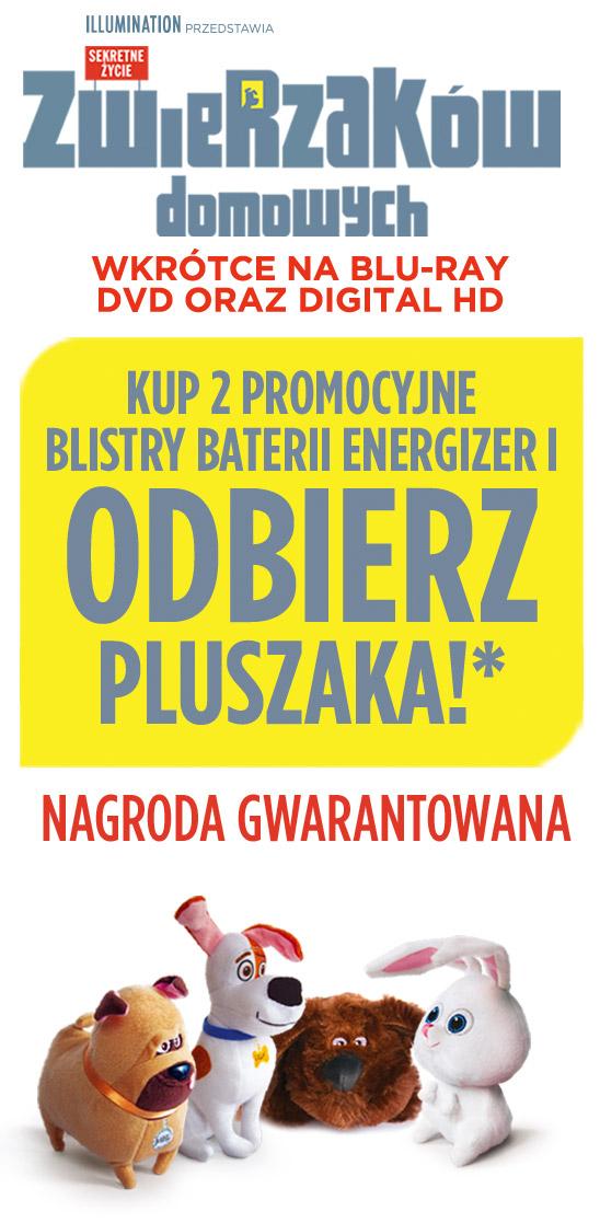 """Pluszak z bajki """"Sekretne życie zwierzaków domowych"""" za zakup 2 blistrów baterii energizer @ Energizer"""
