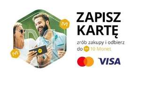 Allegro.pl + Karta Visa lub Mastercard / nawet do +10 Monet za zapisanie i płatności kartą Visa lub Mastercard