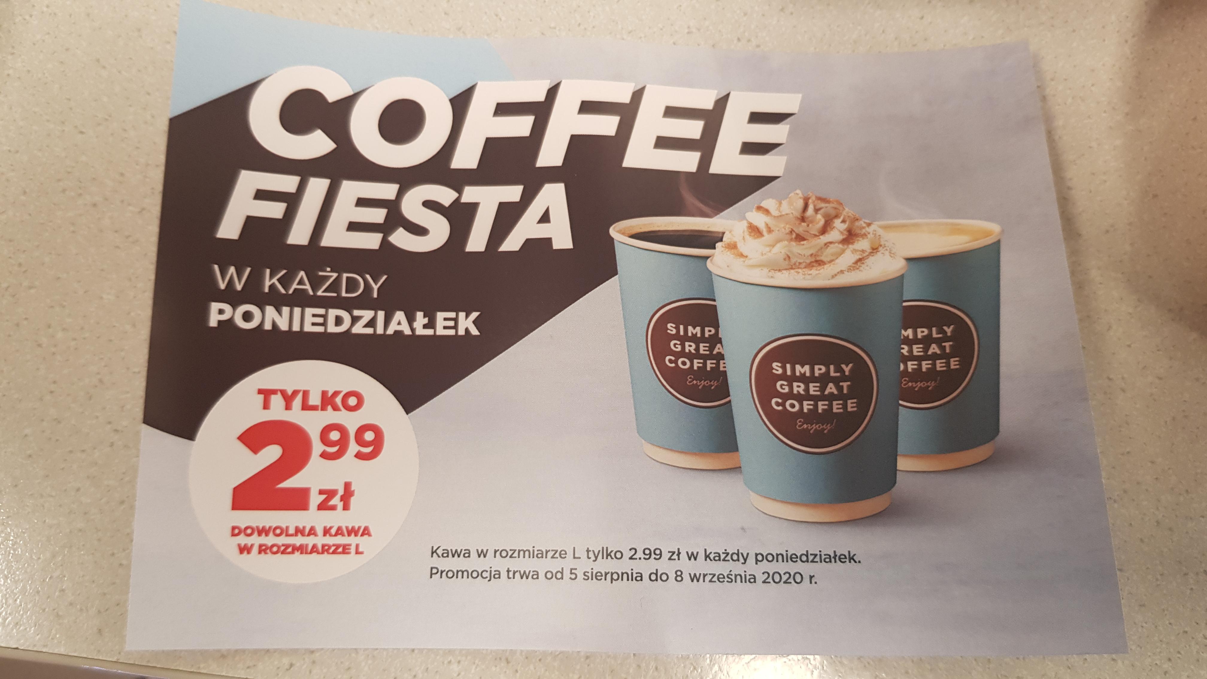 Circle K kawy w poniedziałki po 2.99 zł.