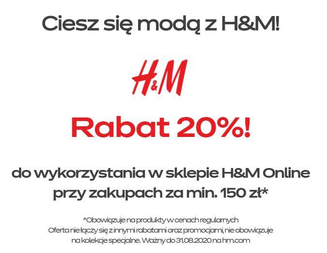-20% w H&M od InPost (MWZ 150 zł)