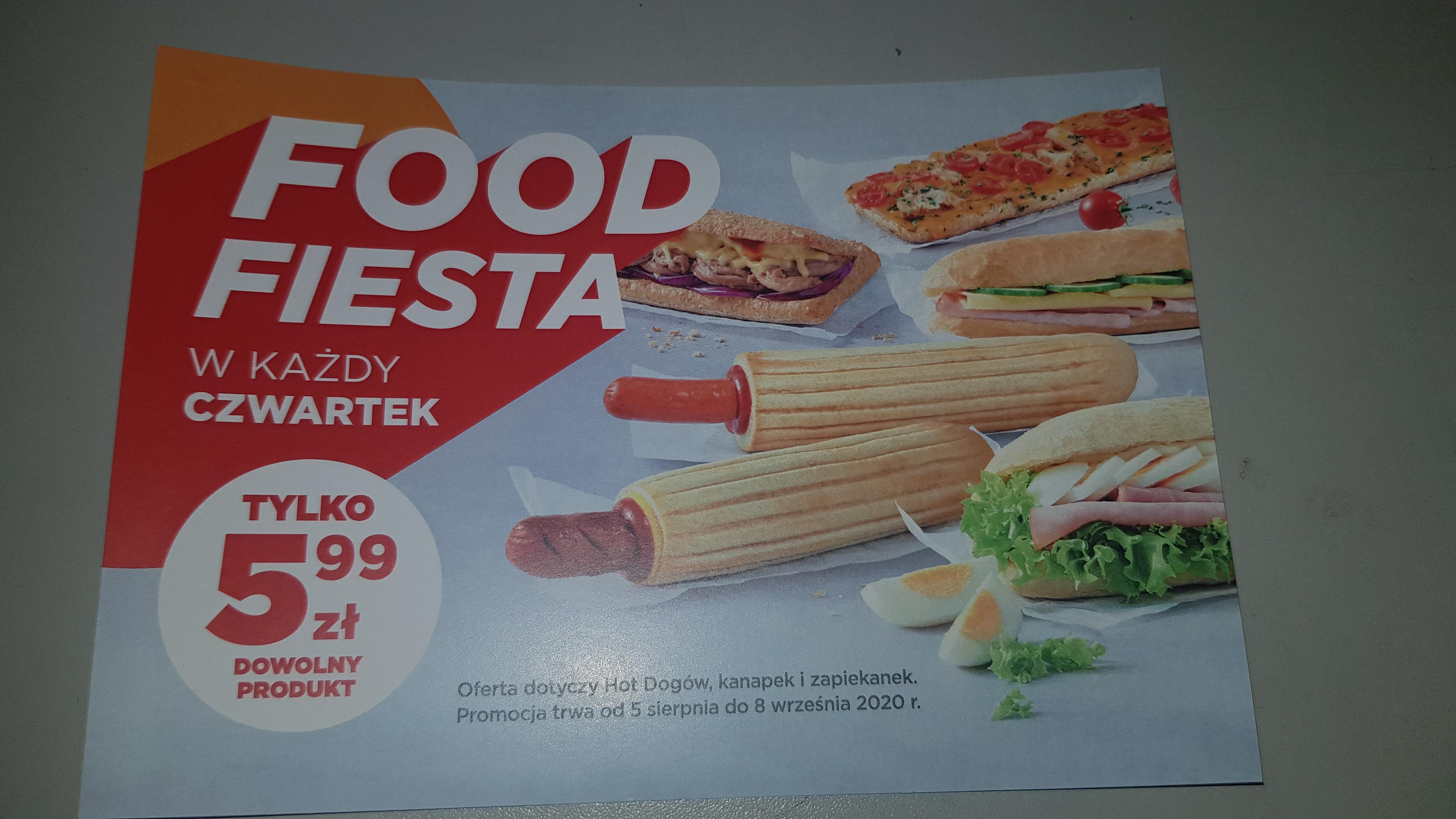 Circle K - cała oferta food w cenie 5.99 zl w czwartki.