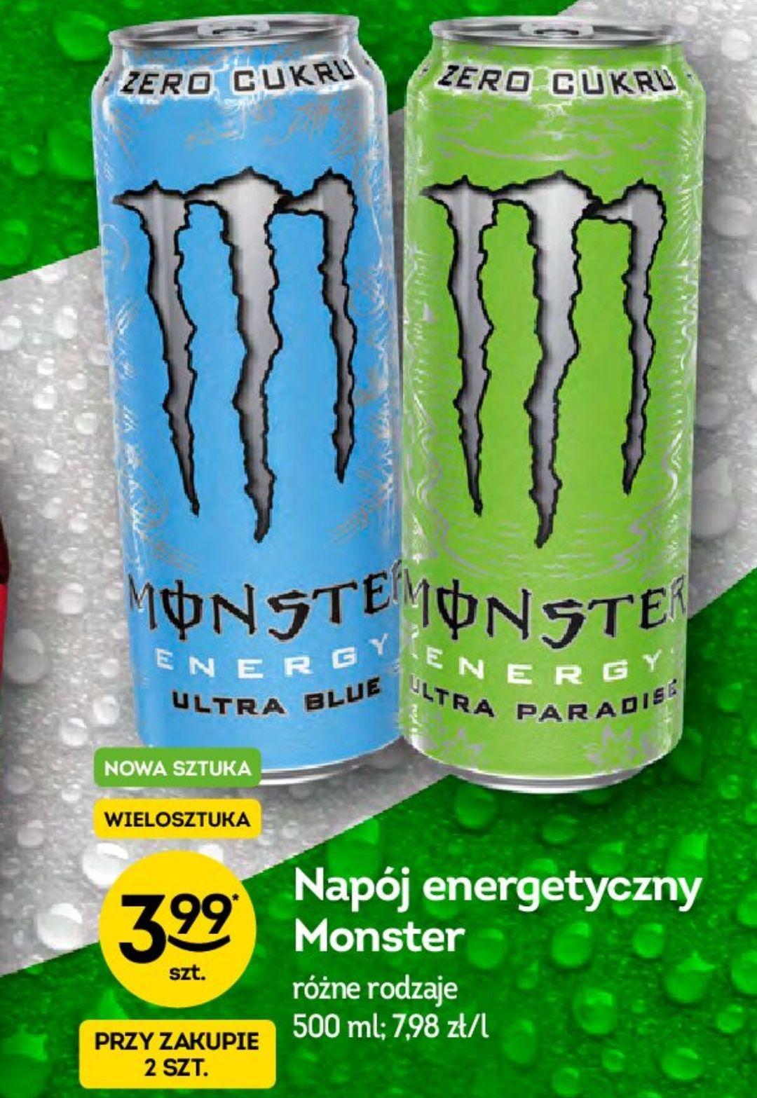 Monster Blue i Paradise za 3.99zł przy zakupie 2 - Żabka
