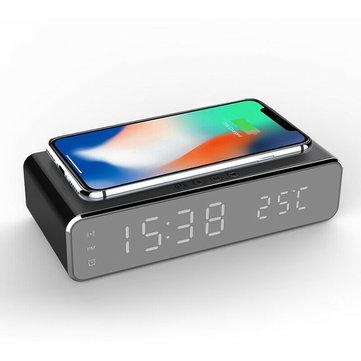 Zegar / Budzik LED 12/24H z ładowarką indukcyjną i termometrem 9.99usd + 2,5usd wysyłka