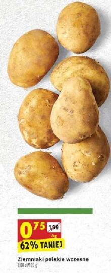 Ziemniaki wczesne 0,75 zł/kg | Awokado Hass 500g 4,99 zł | Arbuz bezpestkowy 1,79 zł/kg @Biedronka