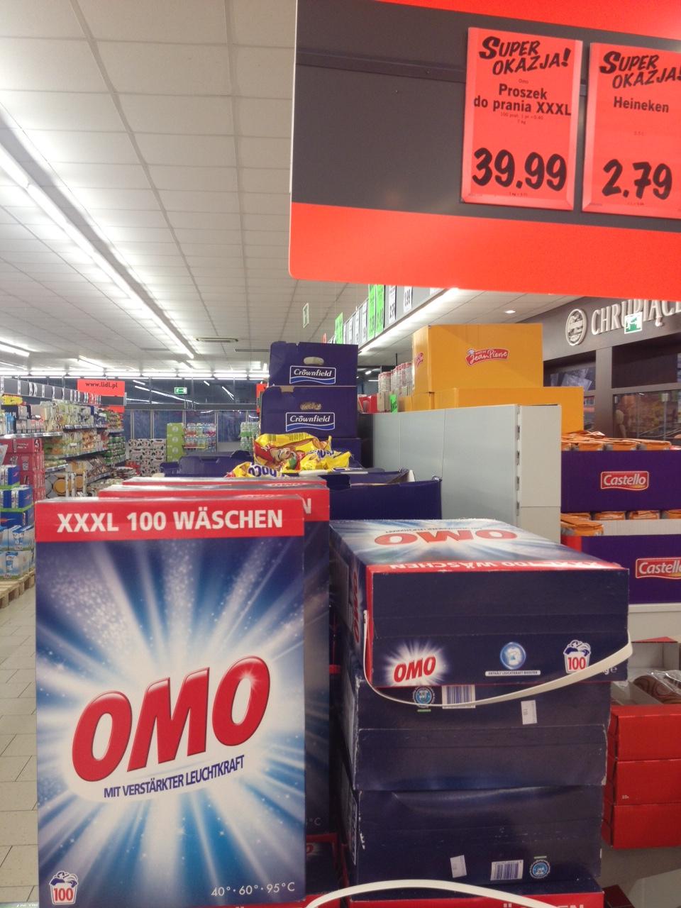 Proszek do prania OMO w formacie XXXL 100 prań za 39,99zł @ Lidl