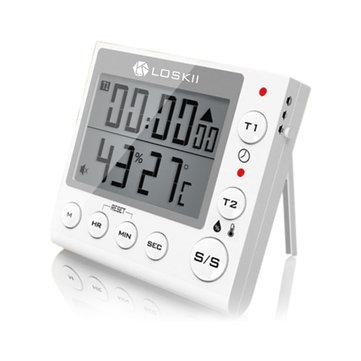 Loskii KC-70 termometr, higrometr, alarm zegarek również kuchenny