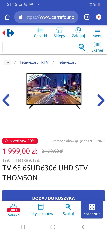 TV 65 65UD6306 UHD STV THOMSON