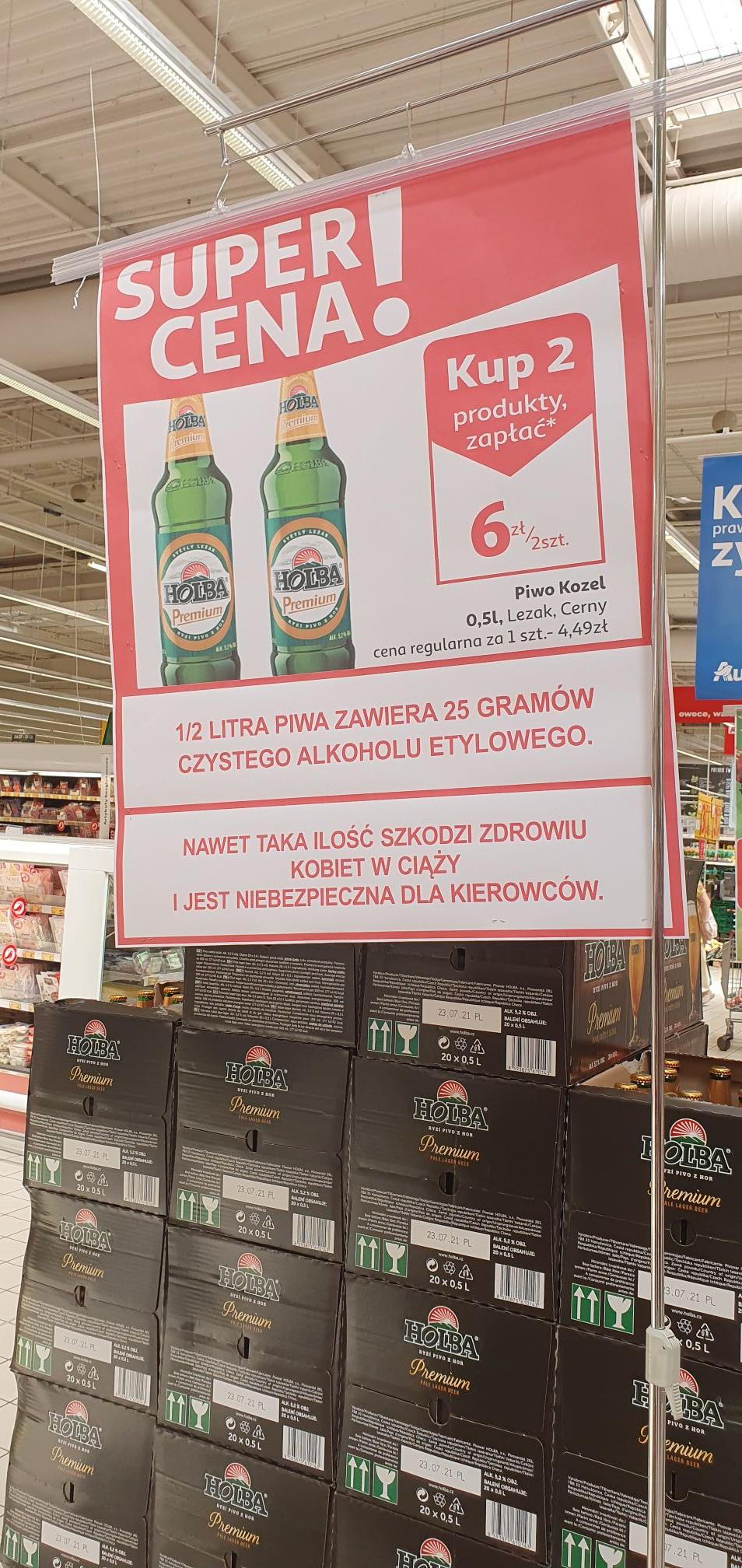 Piwa promocja Wrocław Auchan Korona
