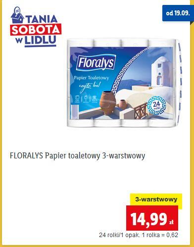 Papier toaletowy 3-warstwowy Floralys 24 rolki @Lidl