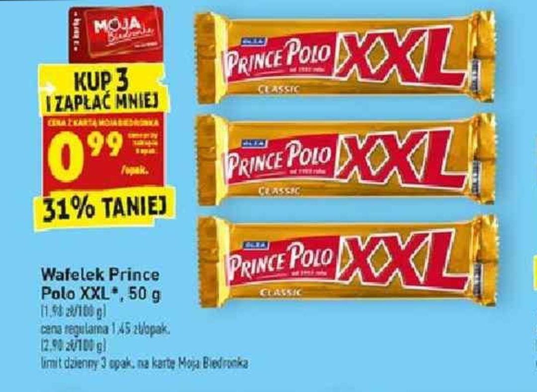 Prince Polo XXL za 0.99zł przy zakupie 3szt z kartą - Biedronka