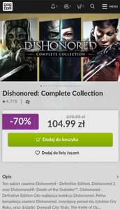 Dishonored: Complete Collection gog.com